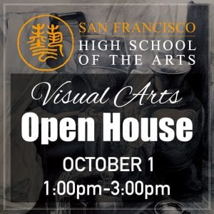 Tue, Oct. 01 — Visual Arts Open House @ 1-3pm
