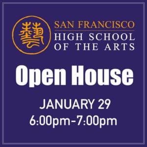 School Open House - Wed. Jan 29 @ HSArts